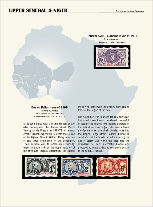 Upper Senegal and Niger new with stamps 2