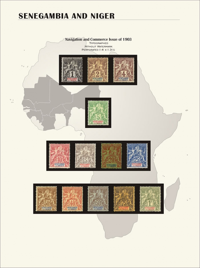 senegambia and Niger new with stamps
