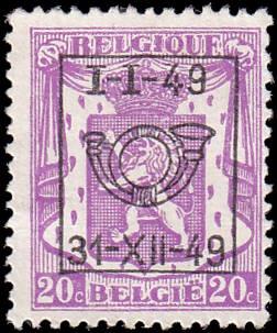 Belgium 269 Overprint