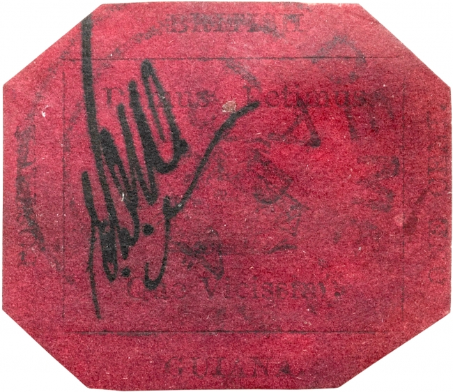 British_Guiana_1856_1c_magenta_stamp
