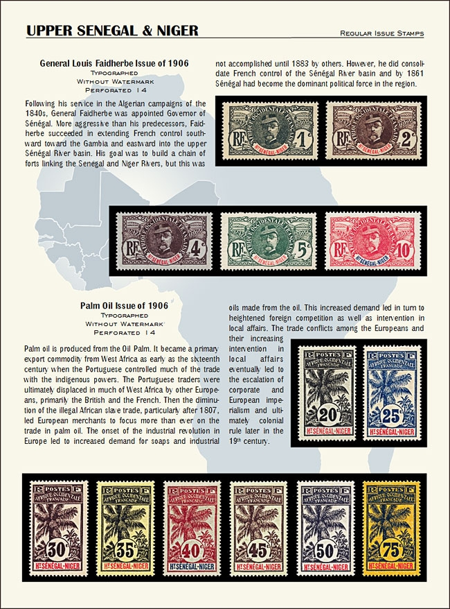 Upper Senegal and Niger new with stamps 1