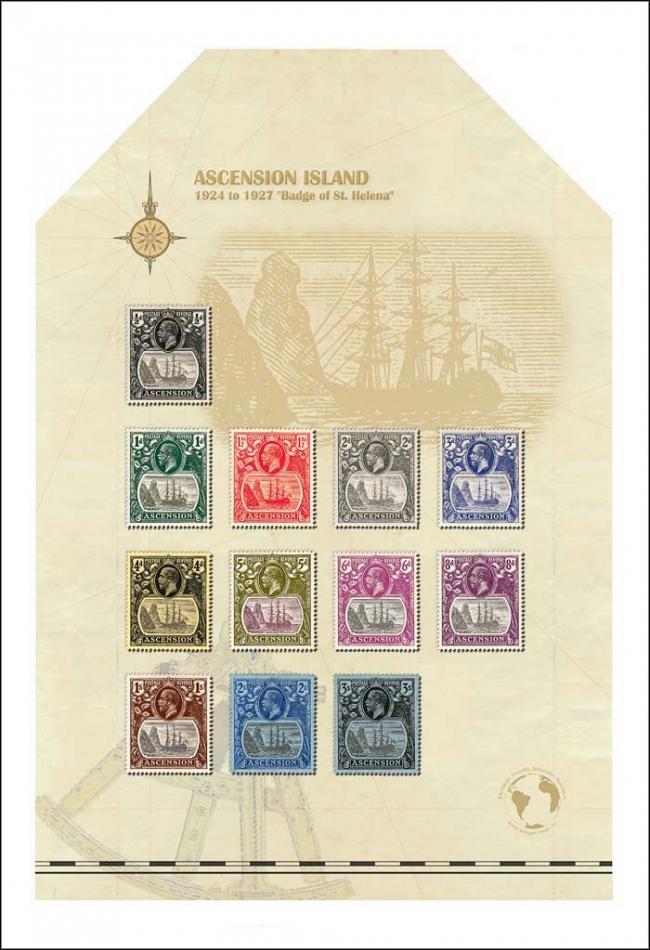 Ascension 12.5 x 18 with stamp vignette alternative share online border