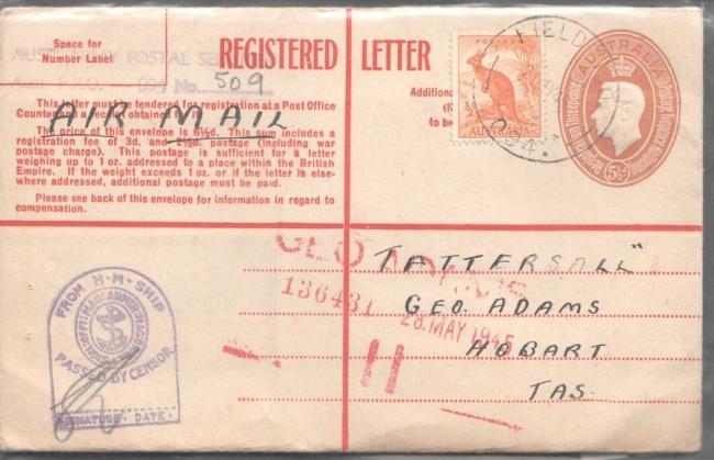 G VI Australian Reg   Envelope