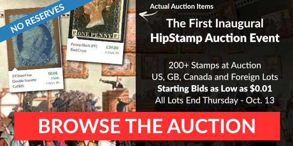 The First Inaugural HipStamp Auction Event - Bid Now